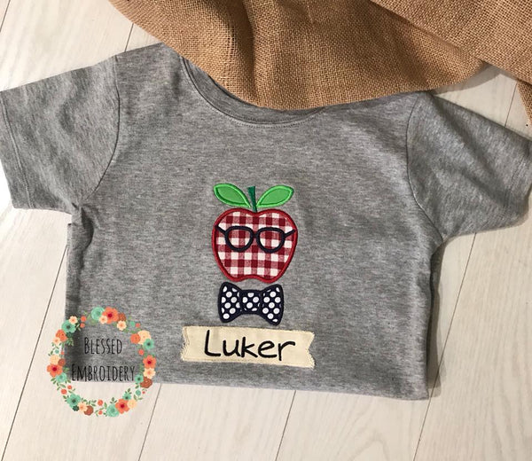 Boys Back To School Shirt, Back To School Applique Shirt, Back To School Personalized Shirt