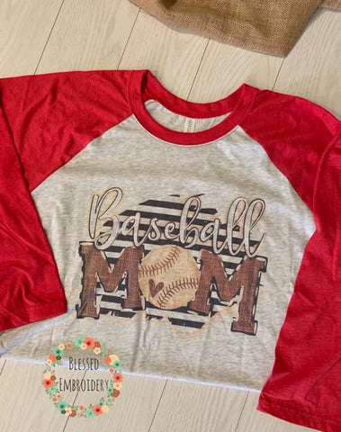 Baseball Mom Shirt, Baseball Mom Raglan, Baseball Mom Hat