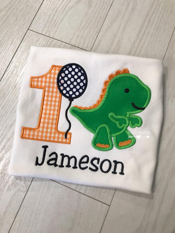 Dinosaur birthday shirt, Boys Dinosaur birthday shirt, boys personalized dinosaur birthday shirt