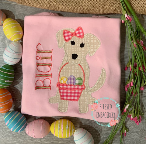 Girls Easter Shirt, Girls Monogrammed Easter Shirt