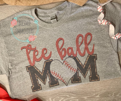 Baseball Mom Shirt, Teeball Mom, TeeBall Mom Shirt