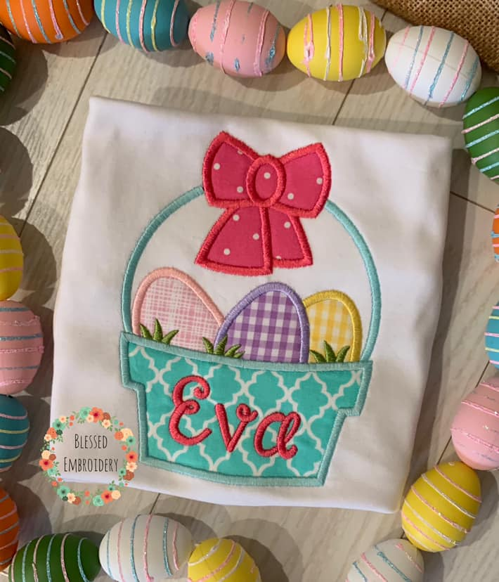 Girls Monogrammed Easter Shirt, Girls Easter Shirt