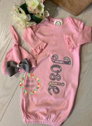 Baby Girl Gown, Baby Girl Coming Home Outfit, Baby Girl Gown Set