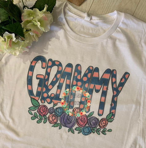 Grammy Sublimated Tee, Grammy T-shirt, Grammy Tee, Mother's Day Shirt