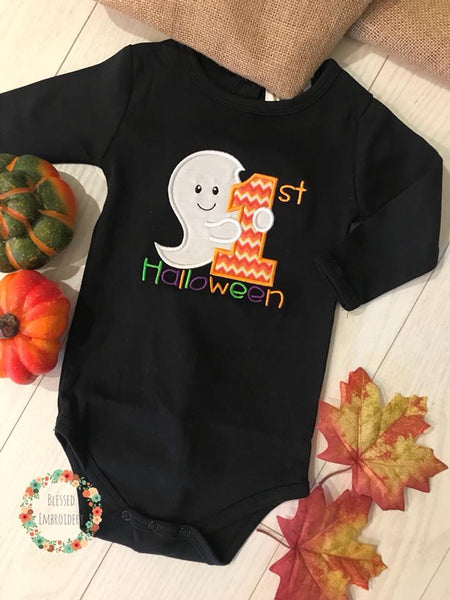 First Halloween Shirt, My first Halloween Applique