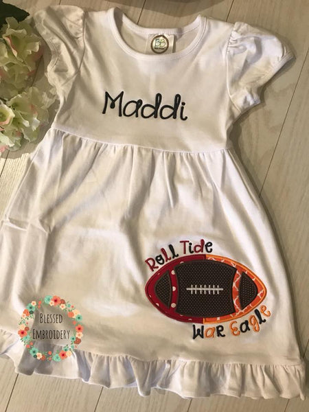 House Divided Dress, Girls House Divided Dress, Girls Monogrammed House Divided Dress