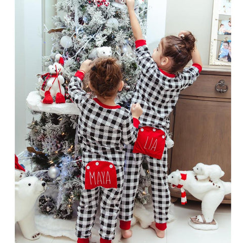 Buffalo Check Christmas Pajamas- Preorder