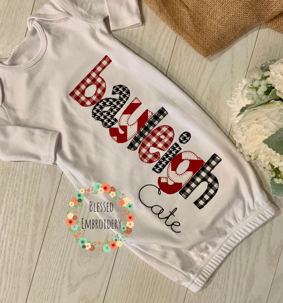 Girl Coming Home Outfit, Baby Girl Gown Set, Baby Girl Gown, Alabama themed gown