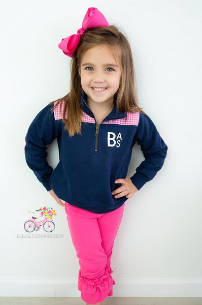 Youth Monogrammed Preppy Pullover
