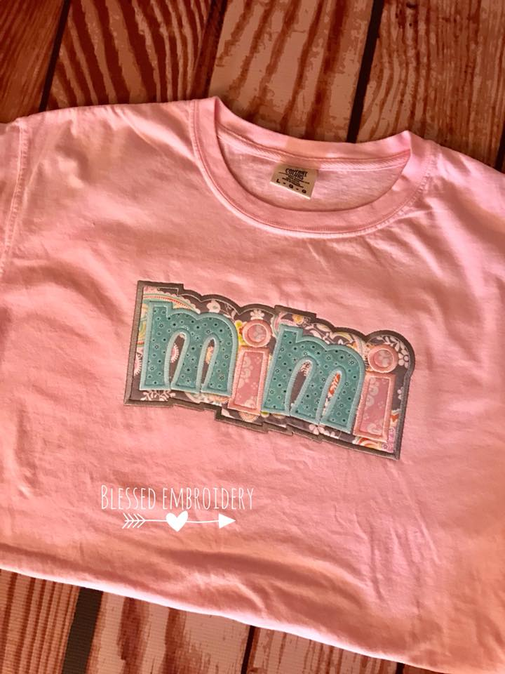 Mimi Monogrammed Shirt, Comfort color Mimi shirt, mothers day monogrammed shirt