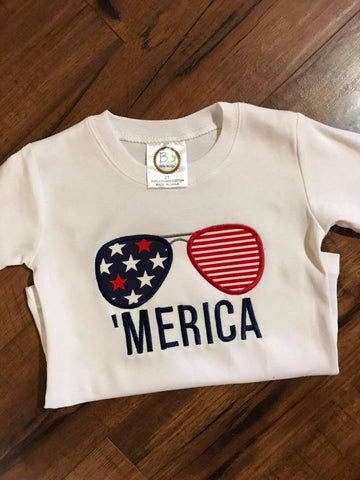 Boys Patriotic Shirt, Boys Patriotic Applique Shirt, Boys Monogrammed patriotic shirt, Merica shirt