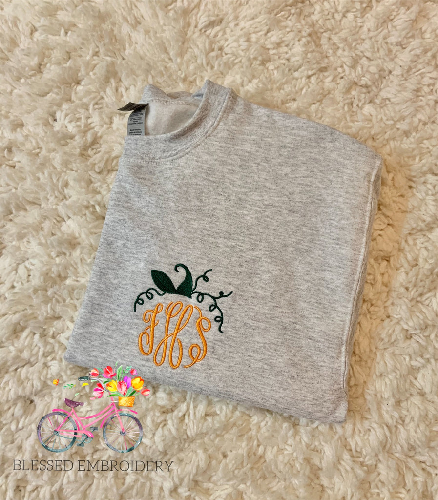 Pumpkin Monogram Sweatshirt