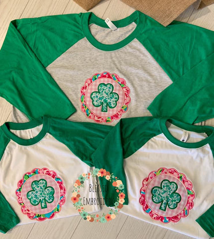 St. Patrick's Day Shirt, St Patricks Day shirt, st patricks day monogrammed shirt, Kids st patricks day shirt