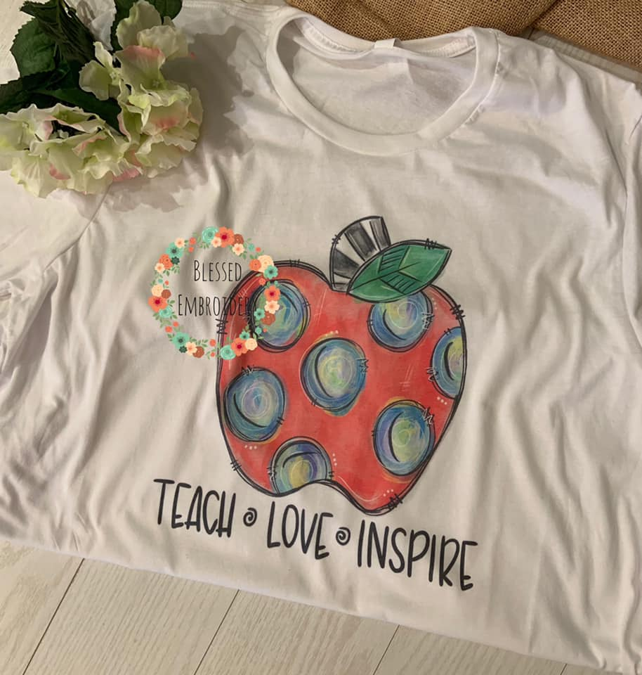 Teach Love Inspire Tee, Teach Love Inspire T-Shirt, Teach Love Inspire Teachers Shirt