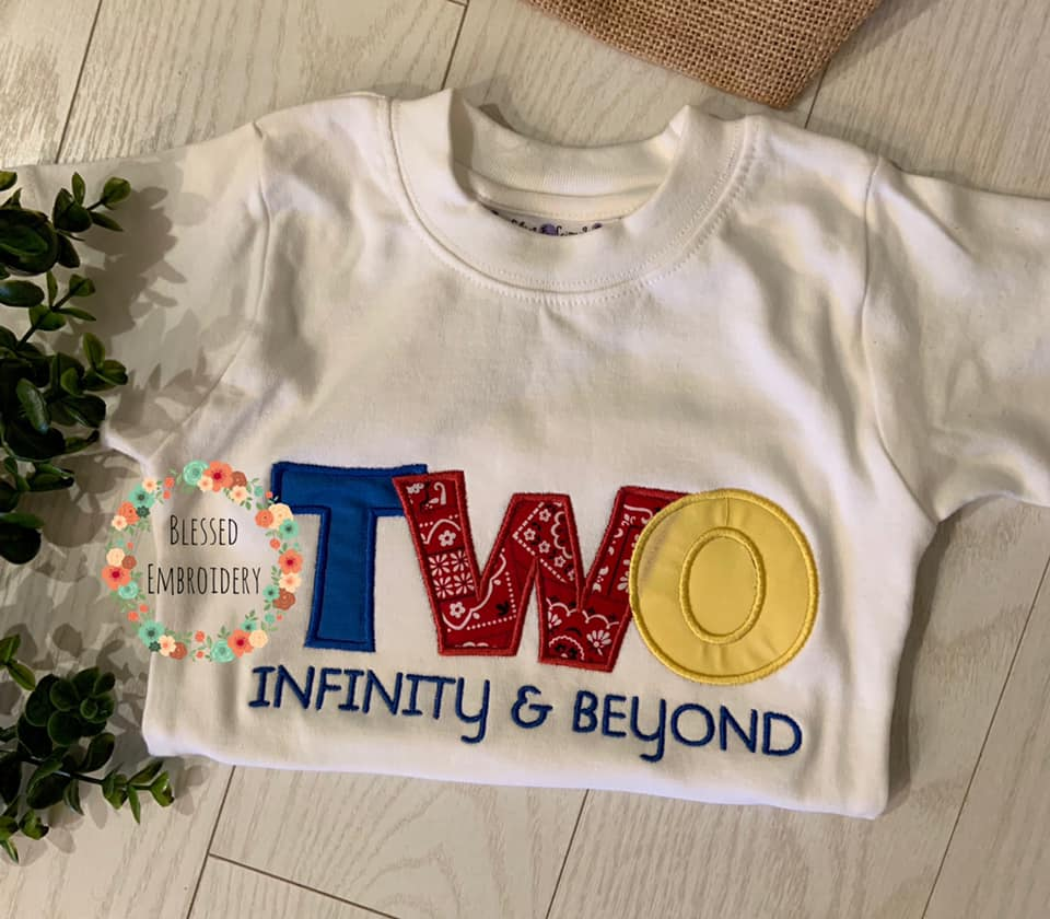 Two Infinity and Beyond Birthday shirt, Toy Story birthday shirt