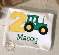 Tractor Birthday Shirt, Boys tractor birthday shirt, boys personalized tractor birthday shirt