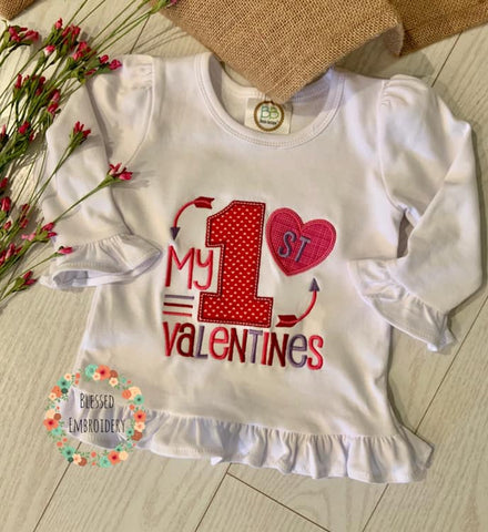 First Valentine's Day Shirt, My First Valentine's Outfit, My first Valentines Day Outfit