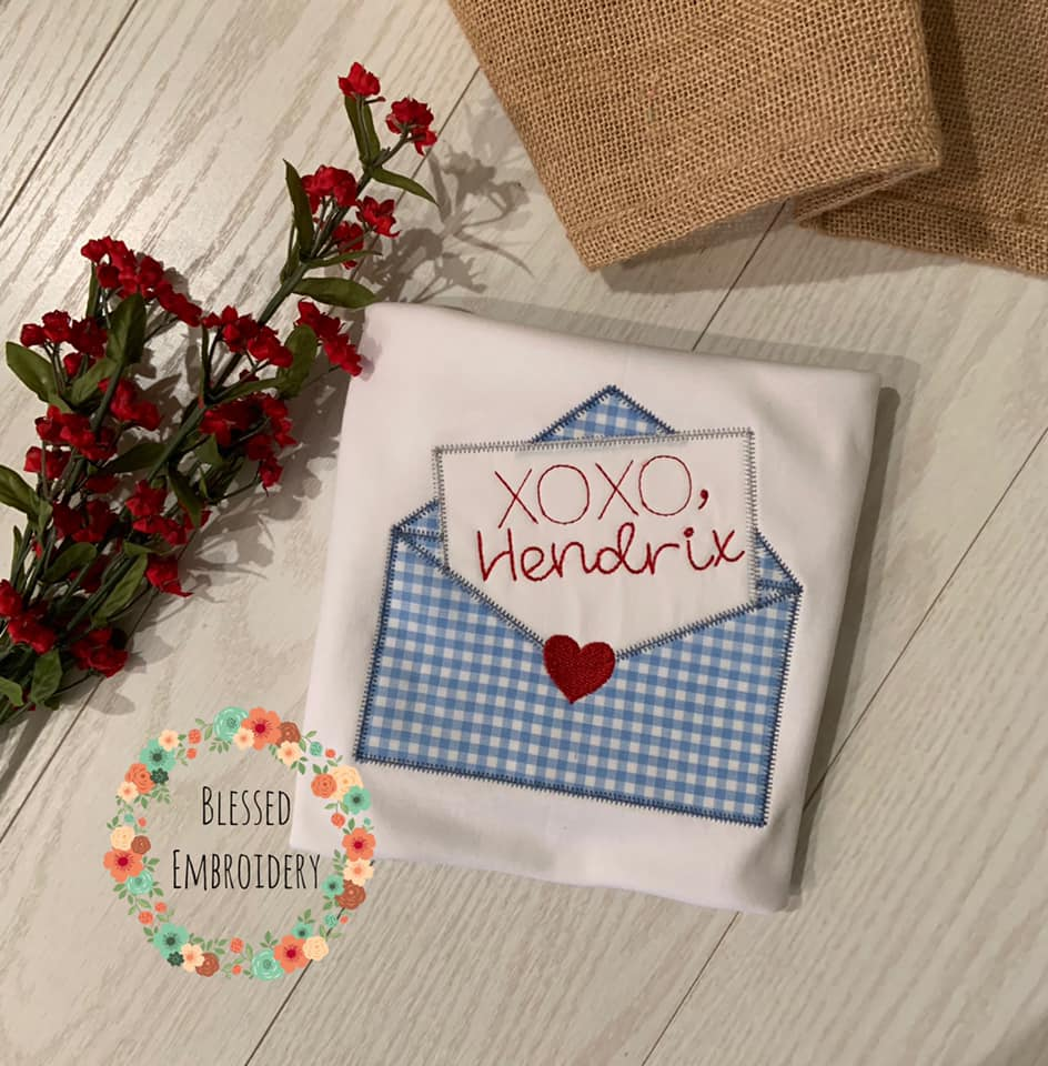 Boys Valentine's Day shirt, Girls Valentines Day Shirt, monogrammed valentines day shirt