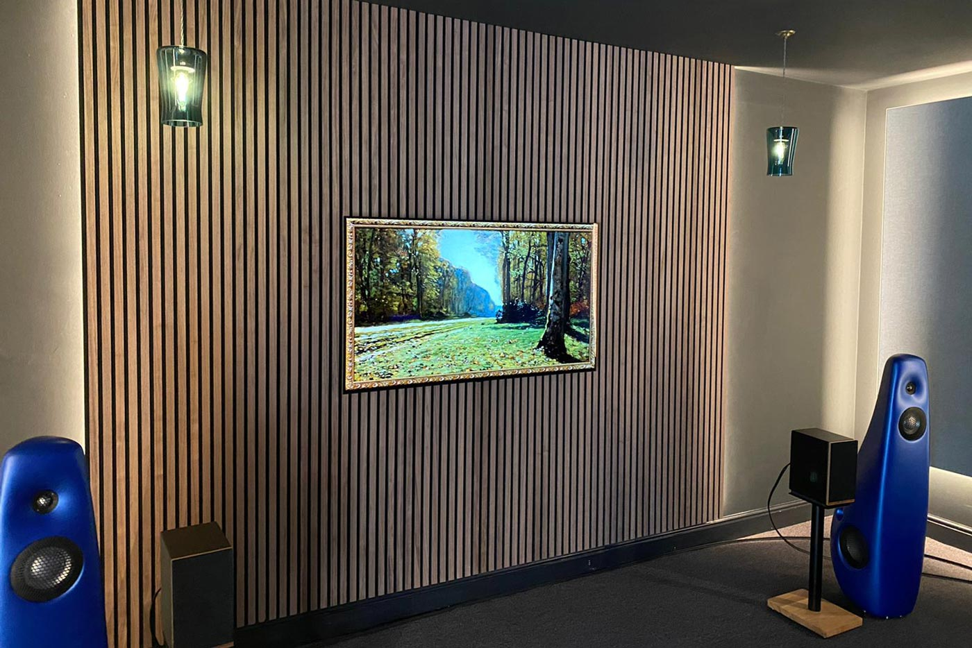 Cinema room in Glasgow where you can get a great home cinema experience.