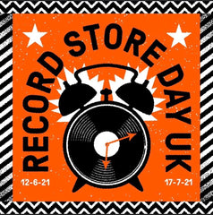Record Store Day 2021 Logo with Release Date - 12th June 2021 and 17th July 2021