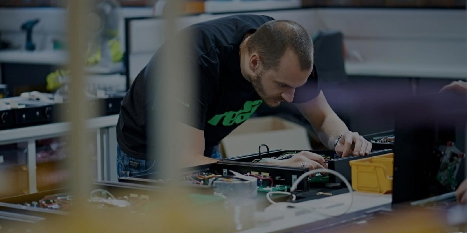 Inside the Rega turntable factory in england where experts build turntables of very high quality.