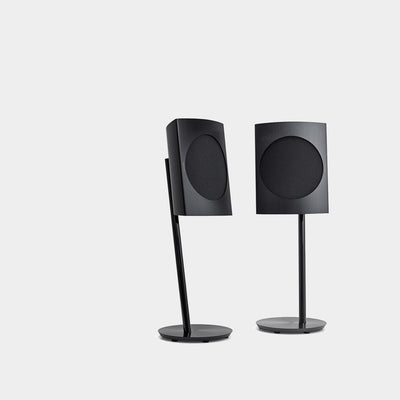 Black BeoLab 17 speakers that look extremely stylish