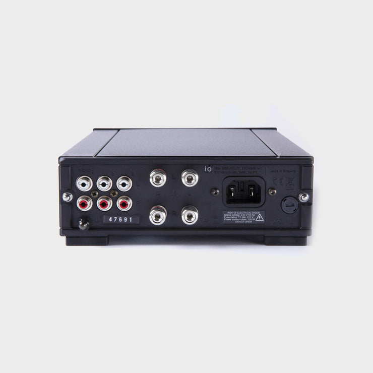 The connectivity options for the rega io integrated amplifier