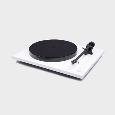 White turntable made by Rega called the Planar Plus