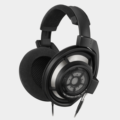 Sennheiser HD800s Wired Headphones | Over Ear Wired Headphones | Matte Black | Angled View | Holburn Online