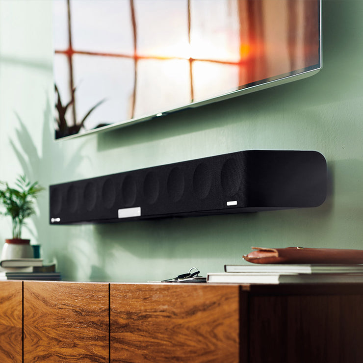 Strong bass from this soundbar omits the need for an additional subwoofer