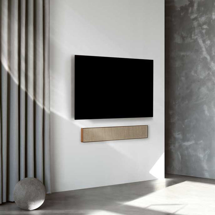 A beautiful soundbar crafted from real oak and packed with powerful speakers