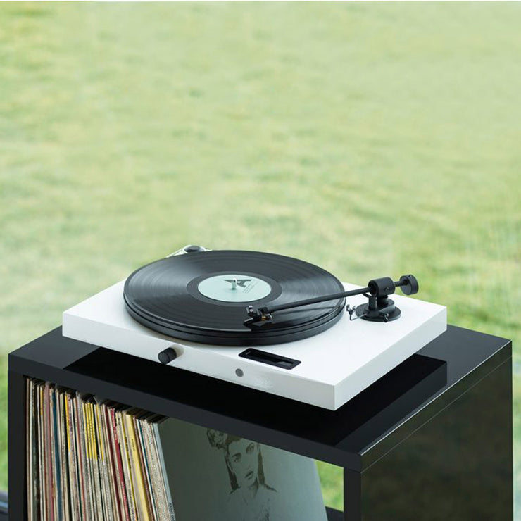 Beautiful home record deck for playing vinyl.