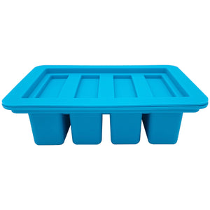 Gourmet Silicone Butter Mold with Lid Rectangle Tray with 4 Cavities