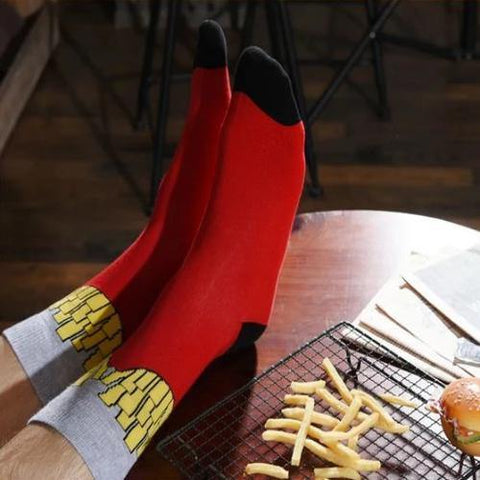 French Fry Socks - It's Okay To Be Weird