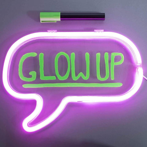 Write On Neon Bubble Light