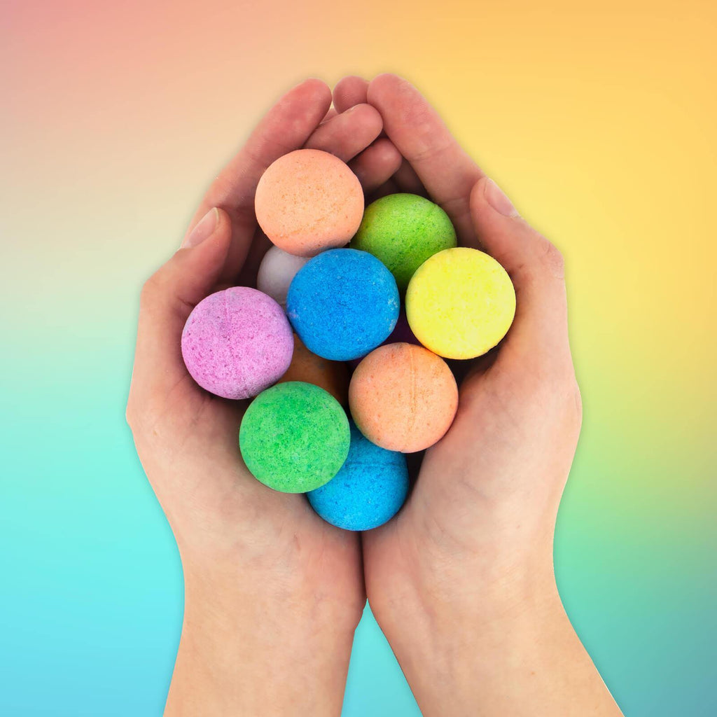 Rainbow Bath Bombs - It's Okay To Be Weird