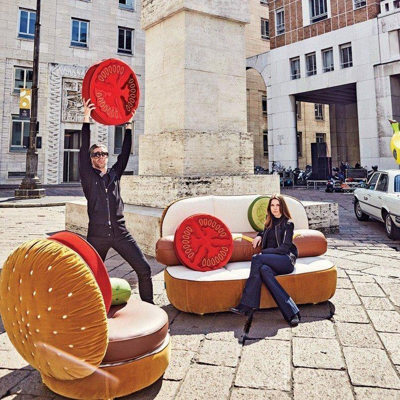Hot Dog Sofa & Burger Chair - It's Okay To Be Weird