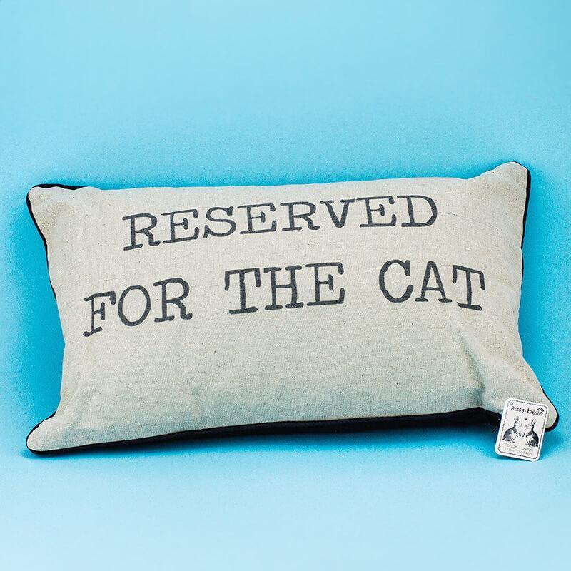 Reserved for the Cat Cushion - It's Okay To Be Weird
