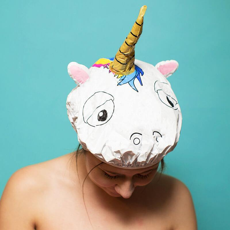 Unicorn Shower Cap - It's Okay To Be Weird