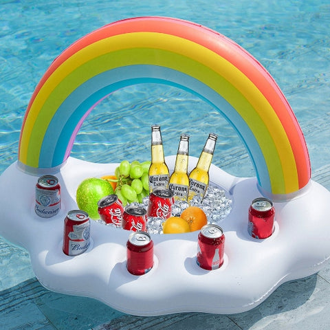 Floating Rainbow Cloud Drink Holder - It's Okay To Be Weird