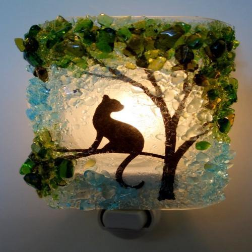 Cat in Tree Night Light - It's Okay To Be Weird