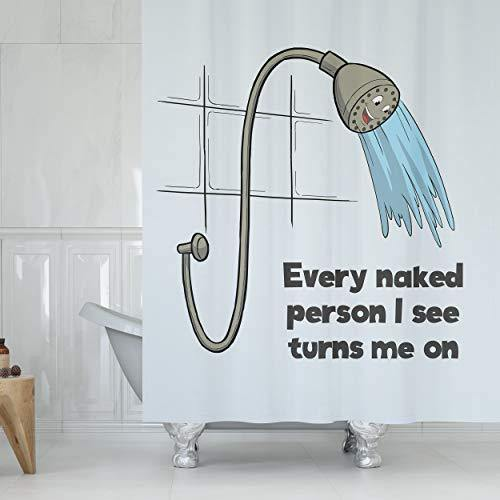 Turn Me On Shower Curtain - It's Okay To Be Weird