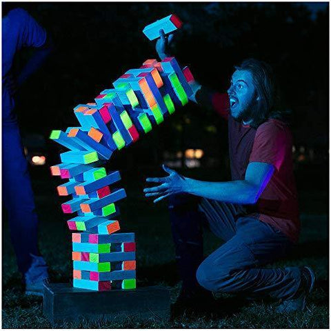 Black Light Giant Tumbling Tower - It's Okay To Be Weird