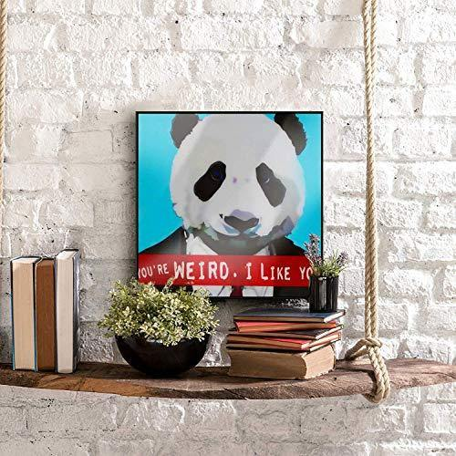 Weird Panda Wall Art - It's Okay To Be Weird