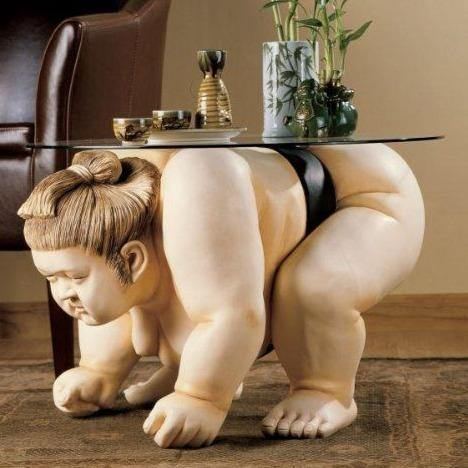 Sumo Wrestler End Table - It's Okay To Be Weird