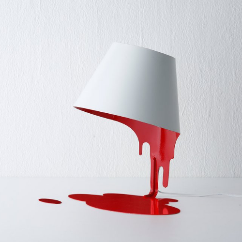 Liquid Paint Table Lamp - It's Okay To Be Weird