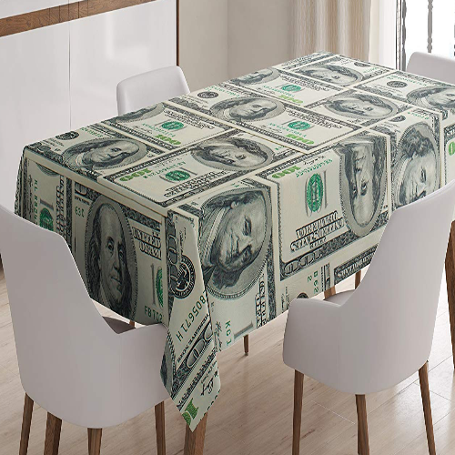 Money Tablecloth - It's Okay To Be Weird