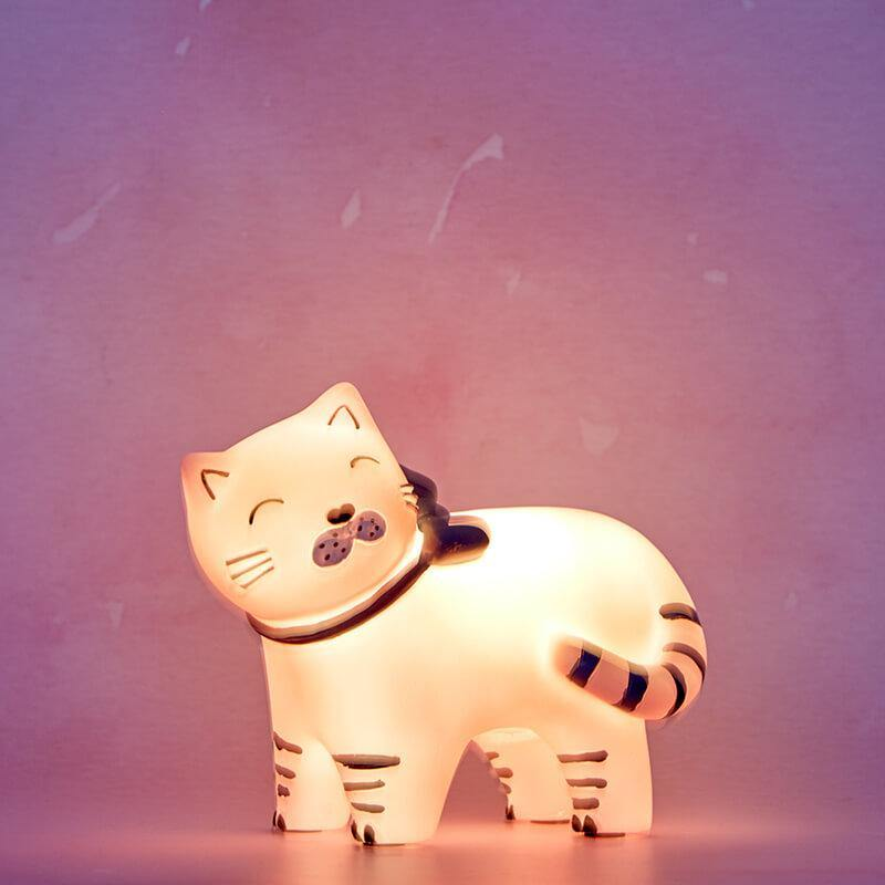 LED Cat Lamp With Bow - It's Okay To Be Weird