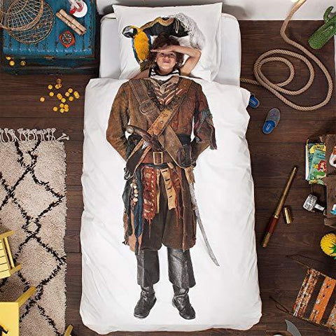Pirate Duvet Cover and Pillowcase Set - It's Okay To Be Weird