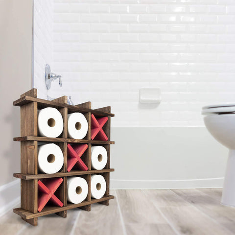 Tic Tac Toe Toilet Paper Holder - It's Okay To Be Weird